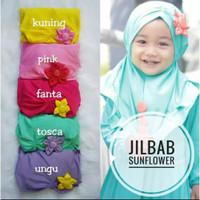 Kerudung Bayi Sun Flower Bunga Matahari/ Hijab Jilbab Bayi Murah/ Alod