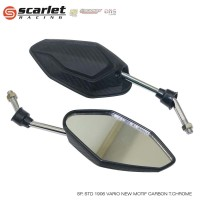 SCARLET RACING Spion 1906 vario carbon tangkai CHROME Honda
