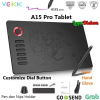 DRAWING TABLET VEIKK A15 PRO 10x6inch Customize Dial - PEN TABLET