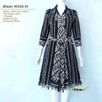 blazer outerwear dress wanita ethnic tenun jepara AT002