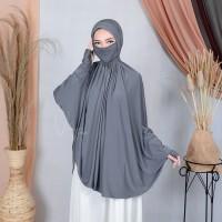Jilbab Hijab Kerudung Khimar Syari Cadar Lengan Khania 4in1 Terbaru
