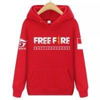 [Anak] Sweater Hoodie Game Garena Free Fire Battleground Booyah Merah