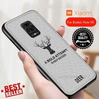 Case Xiaomi Redmi Note 9 Pro Cloth Leather Deer Case Jeans Premium