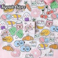 Sticker Cute Food Pink Soft Scrapbook DIY Bujo Planner Journal Diary