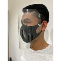 Face Shield Transparan Bisa Naik/Turun PET Premium