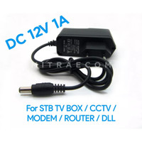 ADAPTOR ADAPTER STB CCTV ROUTER MODEM 12V 1A POWER SUPPLY ( MURNI )