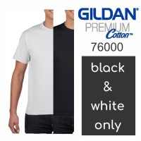Kaos Polos GILDAN Premium Cotton 76000 size S-XXL - Putih, S