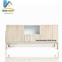 Rak Tv Meja Tv Cabinet - Sonoman Cream [MURMER]