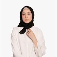 Hijab Wanita Plain Scarf Voal Diario Black