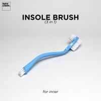 Insole Brush | Sikat Pembersih Bagian Dalam Sepatu 3 in 1 Easy Cleen