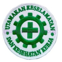 Emblem bordir Patch Logo K3 / Safety First Bulat