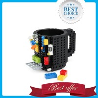VKTECH Gelas Mug Lego Build-on Brick