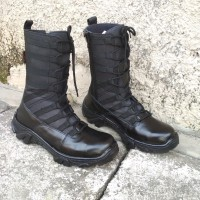 sepatu pdl TNI ninja kulit asli pake sleting