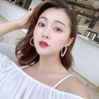 anting bulat mutiara wild pearl circle earrings jan199