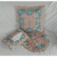 Paket 1 Set Sarung Bantal Bordir Handmade - Best Seller Berkualitas