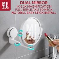 KAKUDAI 2 Cermin Pembesar Tempel Dinding Bathroom Stick On Wall Mirror