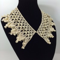READY] Statement Necklace Mutiara Pearl Collar Kerah Shabby Chic Lace