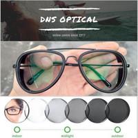 kacamata tony stark edith minus/plus/silinder pria lensa photocromic