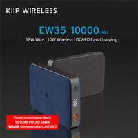 KIIP WIRELESS POWER BANK 10W FAST CHARGING PD&QC 3.0 18W 10000MAH - Hitam
