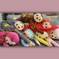 Tempat tissue mobil boneka monyet unik lucu