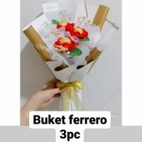 KADO ULTAH BUNGA COKLAT FERERO BIRTHDAY BUKET HADIAH FREE KARTU UCAPAN