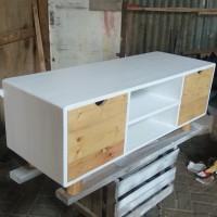 bufet TV kayu jati belanda laci dan lemari scandinavian minimalis