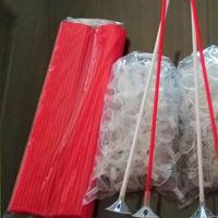 Stick dan Cup Balon Set Merah Atau Putih - 100 Set - Merah