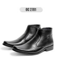 Sepatu OC OC_ Sepatu Boot Pria Formal/ Pantofel Resleting/ Kulit Sapi