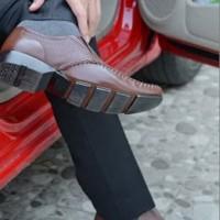 Sepatu OC OC_ Sepatu kulit pria slip-on sepatu formal sepatu