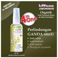LavClean Hand Sanitizer Spray Anti Virus Organic - 60 ML Lemongrass