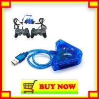 GE631 USB PS II 2 PLAYER CONVERTOR 2 IN 1 Converter Usb Pc To Stick Ps