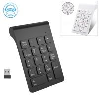 Keyboard Numerik 18 Tombol Wireless 2.4GHz Warna Hitam untuk Laptop