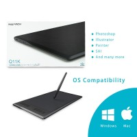 Huion Q11K Tablet Gambar Digital Wireless + Pen Layar 11