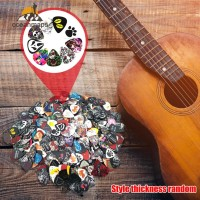---- 15pcs Pick Gitar Plectrum Dengan Holder Ukuran