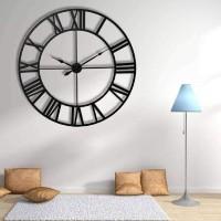Jam Dinding Antik 3D Vintage Angka Romawi Ukuran Besar 60cm