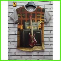 Kaos Full Print Thailand 3D Guitar Gitar