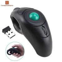 LV Portable 2.4 GHz Finger Handheld Wireless USB Trackball Mouse for