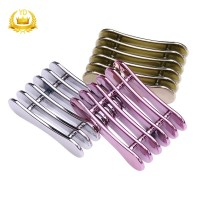 Metallic Five Grid Nail Brush Rack Stand Pen Holder Manicure Tool