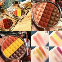 GUICAMI Tri-Color Chocolate Shimmer Matte Eyeshadow Platte
