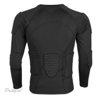 Kaos T-Shirt Compression Lengan Panjang untuk Bersepeda / Fitness