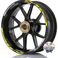 Stiker Velg Sticker Decal Motor Mio Yamaha Racing Factory Kuning Put