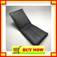 HS603 dompet pria basic kulit asli warna hitam bifold wallet basic wal