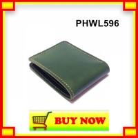 IH867 dompet pria kulit sapi asli warna hijau - bifold wallet basic PH
