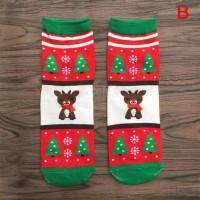 Kaos Kaki Natal Motif Santa Claus untuk Hadiah Anak Laki-Laki /