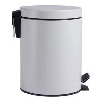 Tempat Sampah Bentuk Silinder Kapasitas 5 Liter Warna Abu-Abu Dengan