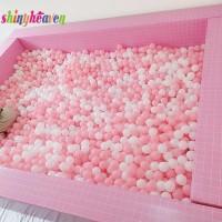 100pcs Mainan Bola Plastik Lembut Berkilau Untuk Kolam Renang Bayi