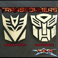 Emblem Logo TRANSFORMERS Untuk Aksesoris Mobil Motor dll
