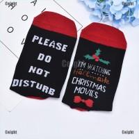 Kaos Kaki Natal Motif Santa Claus untuk Unisex / Anak Laki-laki /