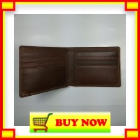 DX685 dompet pria cowo lipat kulit asli warna coklat bifold wallet