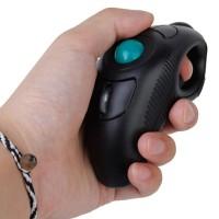 Wireless Finger Handheld Usb Mouse Mice Trackball Mouse Black High